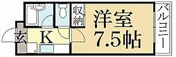 ファーストコート紫竹[4階]の間取り
