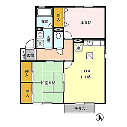 ローレルハイム[1階]の間取り