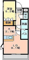 岡山県瀬戸内市長船町福岡の賃貸マンションの間取り