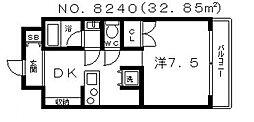 ジリオ大阪城南[2階]の間取り