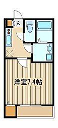 東京都西東京市中町2の賃貸アパートの間取り