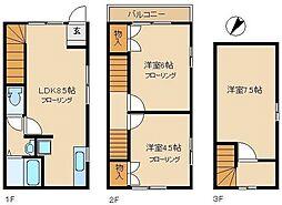[テラスハウス] 神奈川県相模原市南区相武台3丁目 の賃貸【/】の間取り