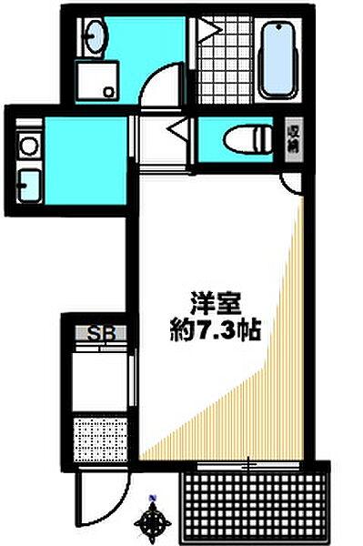 原田通2丁目新築ハイツ(仮)[301号室]の間取り