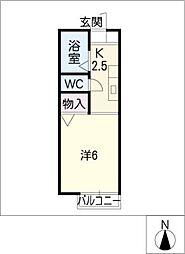 ミヒロハイツ パートIII[2階]の間取り