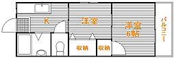 東京都練馬区高松1の賃貸マンションの間取り