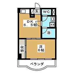 カメリア・コート長町[6階]の間取り