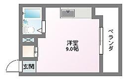 ロータリーマンション中町[4階]の間取り