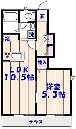 ソレイユ船橋本町[105号室]の間取り