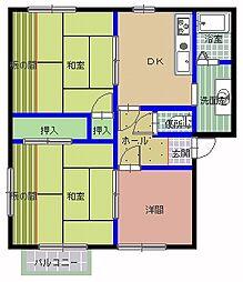 メゾンエスポワール B[103号室]の間取り