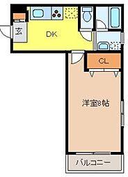 キクナヤスヤマハイツ[1階]の間取り