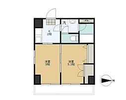 第2タジックビル[2階]の間取り