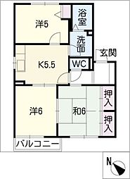 パル B棟[2階]の間取り