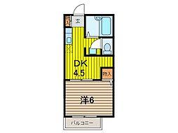 埼玉県さいたま市桜区中島1丁目の賃貸アパートの間取り
