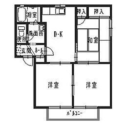 フォーレス高岡[2階]の間取り