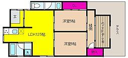 [テラスハウス] 兵庫県神戸市東灘区魚崎北町6丁目 の賃貸【/】の間取り
