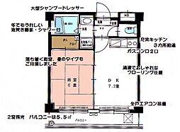 第5浦濱ビレッジ[3階]の間取り