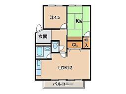 松ヶ丘コーポラス[2階]の間取り