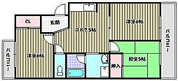 サン、マックマンション[2階]の間取り