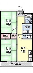 深田マンション[203号室号室]の間取り