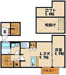 BRONTE明石Ⅱ[2階]の間取り