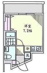 神奈川県横浜市南区井土ケ谷上町の賃貸マンションの間取り