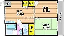 第3耐火ビル[5階]の間取り