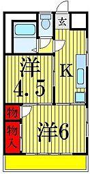 石川コーポ[3階]の間取り