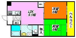 ラ・フォーレ高井田301号室[3階]の間取り