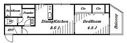 Arcanciel稲毛[2階]の間取り