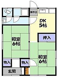 鳥取県米子市西福原6丁目 [一戸建] の間取り