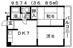 ファミティ弐番館[506号室号室]の間取り