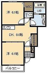 プランドールM Ⅲ[1階]の間取り
