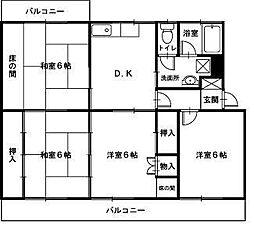 第1高橋マンション[4DK号室]の間取り