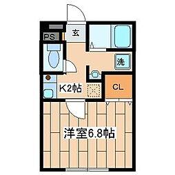 サンライズ湘南[1階]の間取り