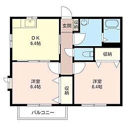 ガーデンフラッツ[2階]の間取り