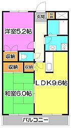 アンシャンテ朝霞台[3階]の間取り