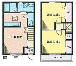 [テラスハウス] 宮城県名取市増田字北谷 の賃貸【/】の間取り