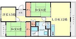 T メゾンクレール1[3階]の間取り