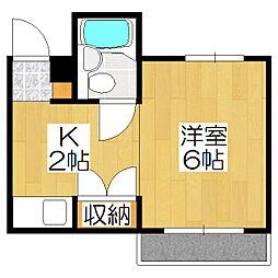 グリーンマンション[3階]の間取り