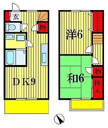 [テラスハウス] 千葉県松戸市稔台8丁目 の賃貸【/】の間取り