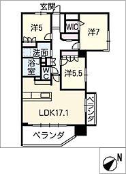 ライオンズ一社グランフォート 1203号室[12階]の間取り