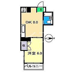 しらさぎマンションII[3階]の間取り