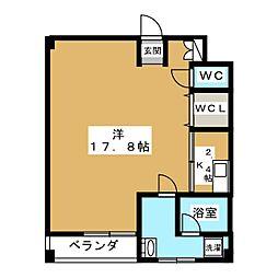 Succeed 吉祥院[4階]の間取り