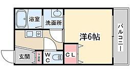 Osaka Metro堺筋線 天神橋筋六丁目駅 徒歩9分の賃貸アパート 3階1Kの間取り
