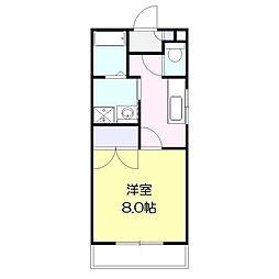 あさひコーラル[2階]の間取り