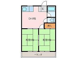 三重県四日市市松本3丁目の賃貸アパートの間取り