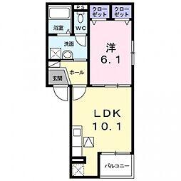 ラシュレコニシ[3階]の間取り