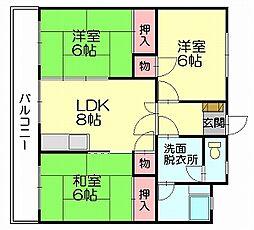 和廣ビル[3階]の間取り