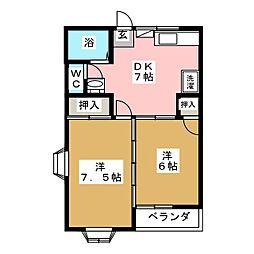 フラッツTO−2[1階]の間取り