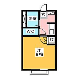 コンフォールSK[1階]の間取り